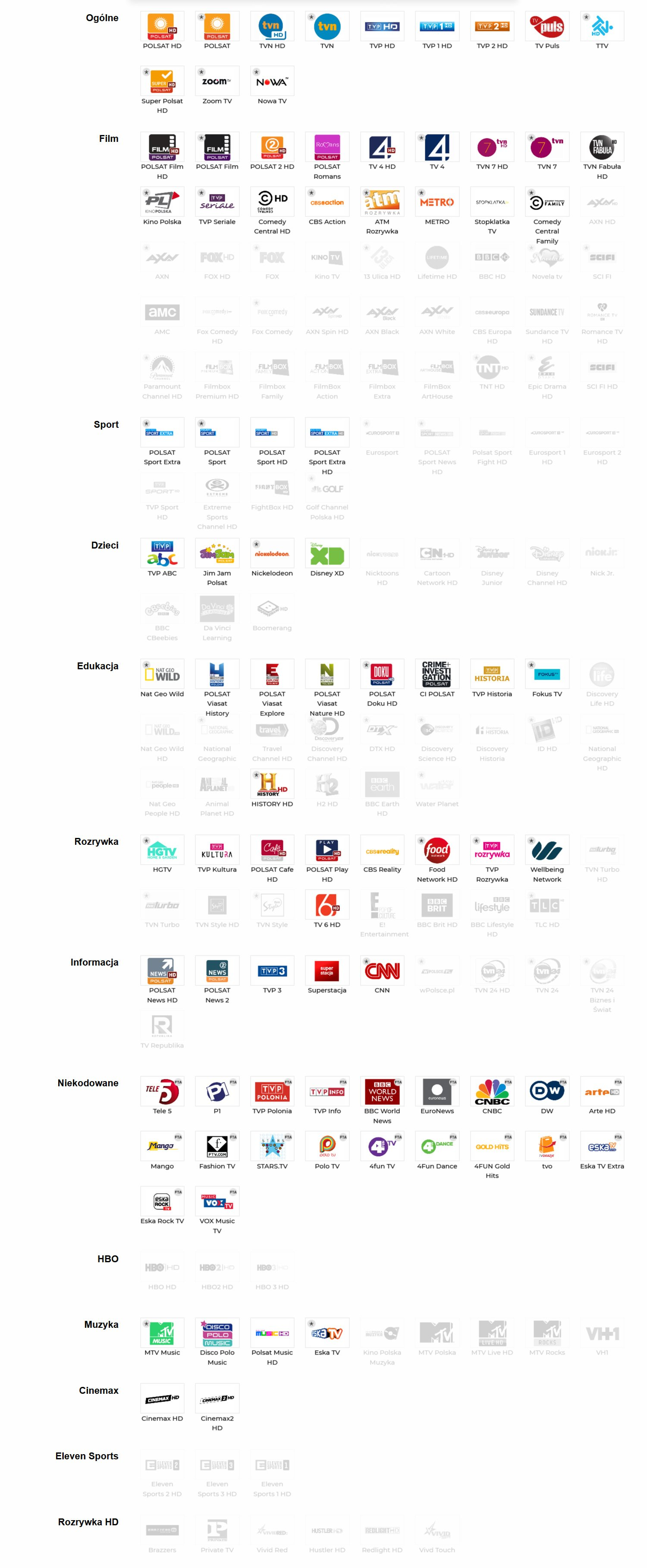Cyfrowy Polsat Pakiet Rodzinny HD + Cinemax HD + Eleven Sports HD